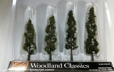 "Woodland Scenics Trees Standing Timber 4-6"" (4) WOOTR3561"