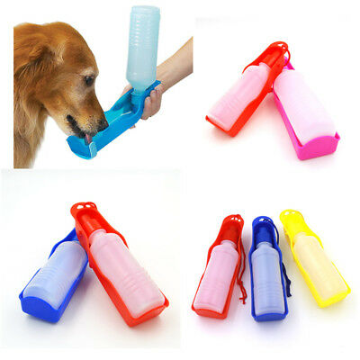 250ml Foldable Pet Dog Drinking Water Bottles Travel Hand Held Puppy Dogs