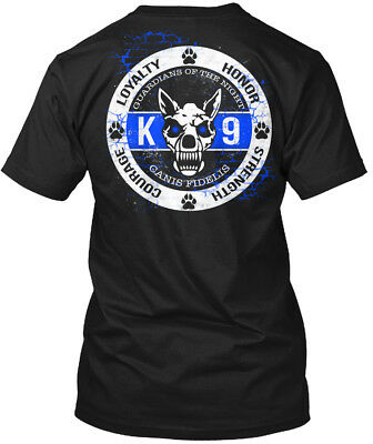 Casual K-9 Police Dog Law Enforcement - Loyalty Honor Hanes Tagless Tee T-Shirt