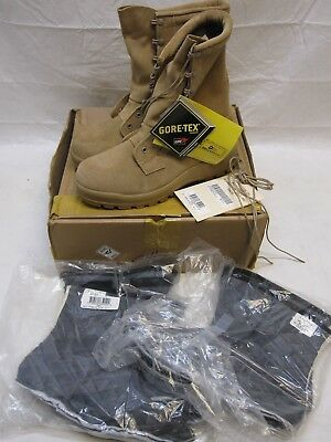 Belleville Military Army Tan Waterproof Cold Weather Gore-Tex Boots 8.5 Wide