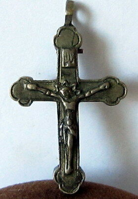 Amazing Very Rare Post-Medieval Silver Pendant Cross # 523