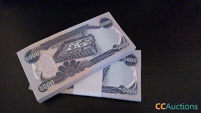 1,000,000 Iraqi Dinar (200) 5,000 Notes Uncirculated!! Authentic! Iqd!