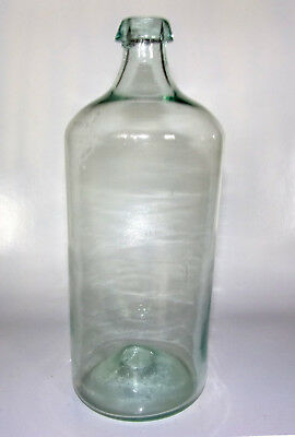 """Large 9 1/2"""" Tall Early-Mid 19th Century Pontiled Free-Blown Medicine Bottle"""