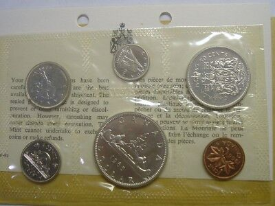1965 Uncirculated Royal Canadian Silver Mint Set Blunt 5 Small Bead