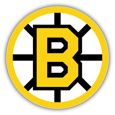 Boston Bruins NHL Logo B Car Bumper Sticker Decal  - 9'', 12'' or 14''