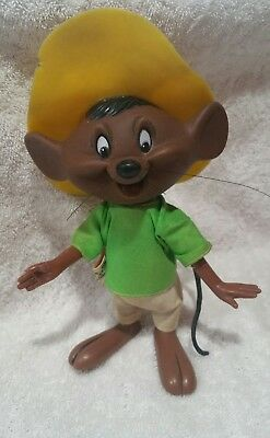 Vintage 1970 Speedy Gonzalez Toy Warner Bros. Hong Kong, Hat, Clothes,Whiskers