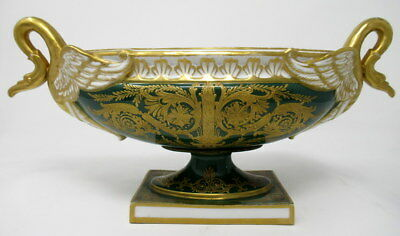Superb French Hand Painted Sevres Porcelain Oval Form Centerpiece 19thCt.