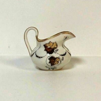 Antique 19th C Popov Moscow Russian Porcelain Manufacturer Mini Pitcher Creamer