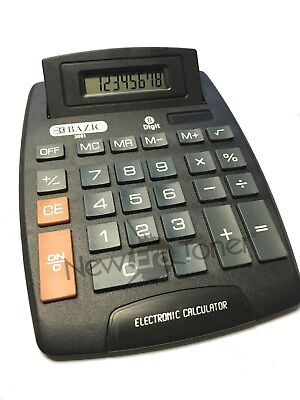 Large JUMBO CALCULATOR 8 Digits Display Hard Keys Solar & Battery Powered