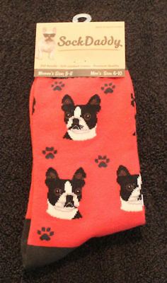 Boston Terrier Dog Breed Lightweight Stretch Cotton Adult Socks