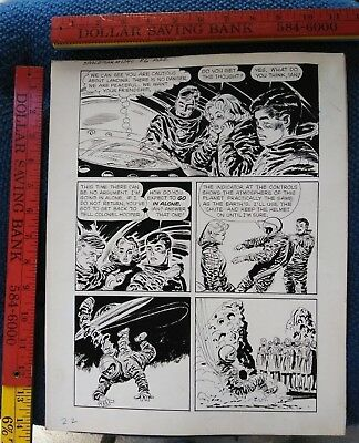 Original comic art By JACK SPARLING SPACEMAN 2 PAGE 22 1961 DELL 1 OF A KIND ART