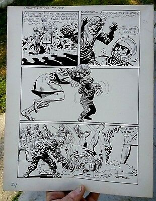 Original comic art By JACK SPARLING SPACEMAN 2 PAGE 24 1961 DELL 1 OF A KIND ART