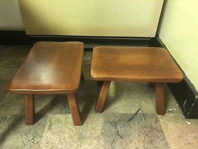 Cushman Colonial Maple Foot Stool #9038 sm Wood Bench Pair