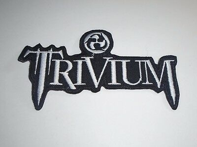 Sew On Patch UK SELLER Patches 7.5x3.5cm TRIVIUM Embroidered Rock Band Iron On