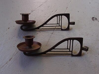 Brass Art Deco Candle Stick Holders Pair