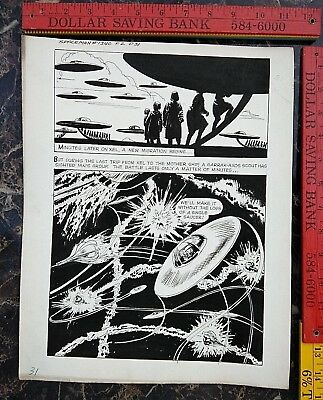 Original comic art By JACK SPARLING SPACEMAN 2 PAGE 31 1961 DELL 1 OF A KIND ART