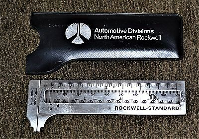 VTG Advertising Rockwell Standard Automotive Divisions Pocket Caliper w/ Case