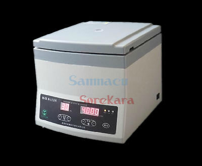 220V 80-2B Lab Centrifuge 300-4000RPM 12x20ml Tubes Timer Digital Display