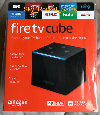 (BRAND NEW) Amazon Fire TV Cube with Alexa Voice Remote 4K Ultra HD Streaming
