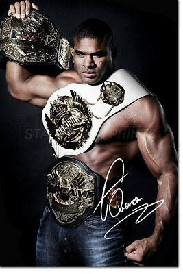 Alistair Overeem  Photo Print Poster - Pre Signed - 12 X 8 Inch