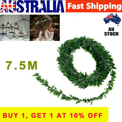 7.5M Artificial Ivy Garland Foliage Green Leaves Vine Wedding Party DIY Decor