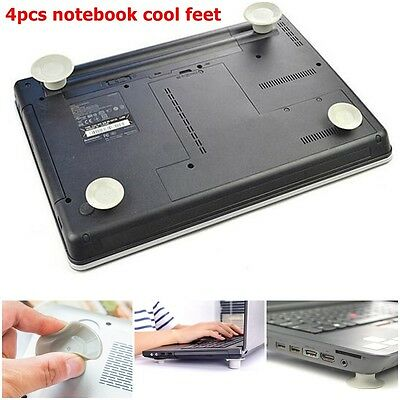 4pcs Laptop Notebook Antiskid Cooling Cooler Stand Cool Leg Feet Skidproof Pad