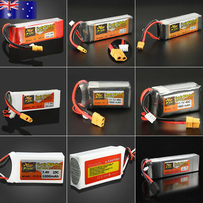 AU!!! 6000-1000mAh 7.4V-11.1V 25C 65C Lipo Battery For RC Helicopter Car Battery