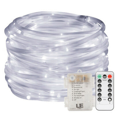 33FT 10M 120 LED Rope String Strip Lights Dimmable Waterproof Outdoor Tube Lamp