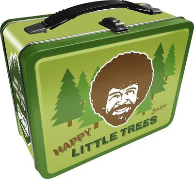 "Bob Ross ""Happy Little Trees"" 7.75"" x 6.75"" x 4"" Collectible Tin Lunch Box"