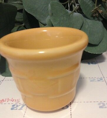 Longaberger Woven Traditions Butternut Yellow Votive Candle Holder - PRE-OWNED