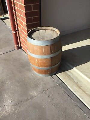 Vintage Wood Wine Barrel In As Knew Original Condition