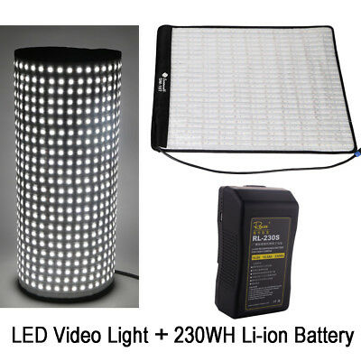 SOONWELL 5600K 62W 18T Rollable 504 Beads LED Video Light Lamp+230WH Battery