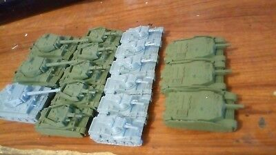 17 Hungarian WW2 tanks, 1/100 scale, for Flames of War