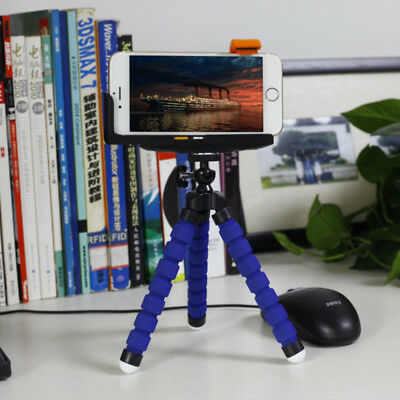 Universal Mini Flexible Stand Tripod Mount + Holder For Smart Phone iPhone