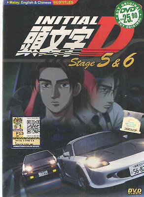 DVD Anime Initial D Stage 5 & 6 by Shuichi Shigen + Free Gift