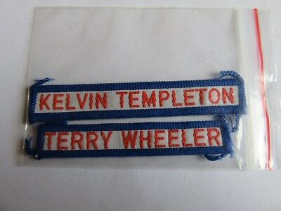 2 x 1980's Footscray VFL Duffle Coat Player Patches - Templeton/Wheeler
