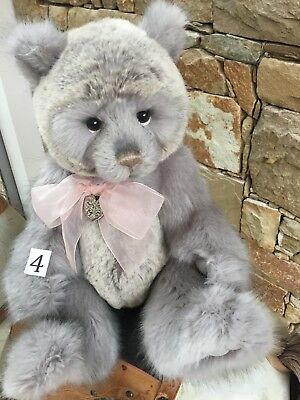 Charlie Bears 2018 Year Bear 4 Plumo Collectable Plush Mohair Limited Edition