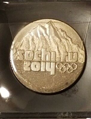 Russia Uncirculated 25 Roubles. XXII Olympic Winter Games Sochi 2014