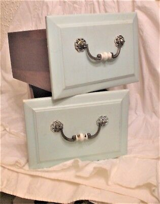 sHabbY VinTaGe~LRG DRAWER BOXES~Old Handles~cHic Storage/Supplies~Planters~Books