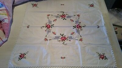 Hand Embroidered Table Cloth (Ref D6) 7 Pieces