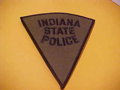 Indiana State Police Patch Shoulder Size Unused O.d. Big 5 1/2 X 5 Inch