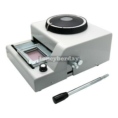 72 Letter Manual Embosser Machine PVC Gift Card Credit ID Stamping Embossing