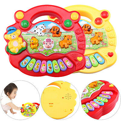 Baby Kids Musical Educational Piano Animal Farm Developmental Music Toys Game