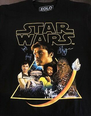 2018 Solo: A Star Wars Story Exclusive Cinemark Movie Theater Promo T-Shirt - L