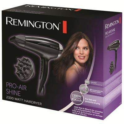 Remington D5215 Womens Pro-Air Shine Powerful Hair Dryer 2300W with Concentrator