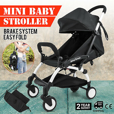 Mini Baby Foldable Stroller Pushchair Foot Rest Comfortable Adjustable Canopy