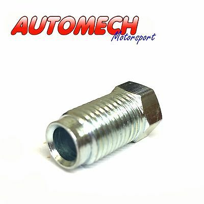 """Automech Brake Pipe union 7/16""""UNF for 1/4"""" Pipe Pack of 2, Plated Finish (U09)"""