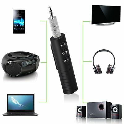 Handsfree Wireless Car Bluetooth Receiver 3.5mm AUX Music Stereo Audio Adapter @