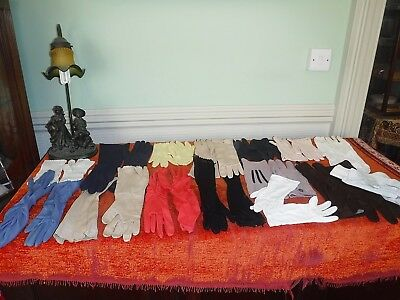 M* Vintage Gloves 15 Pairs All Lengths All Colours From Elbow To Wrist As Shown