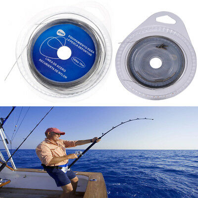 String Steel Wire Fishing line 10M 7Strands Braided Leader Wire Sea Fishing